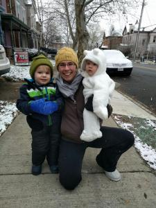 Michelle Nix, with children Theo, 2, and Fritz