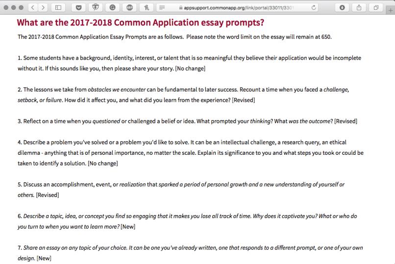 Common application essay topic hepatitze