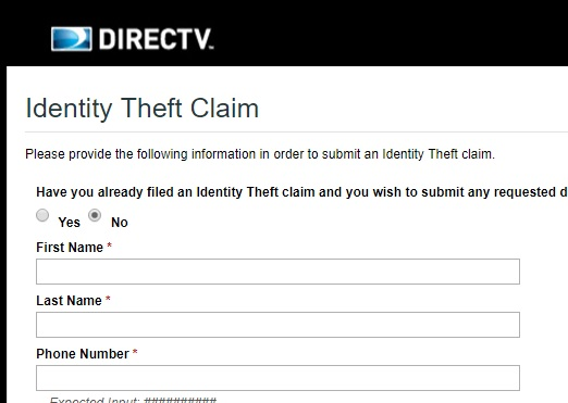 A criminal opened a DirecTV account in his name, and his