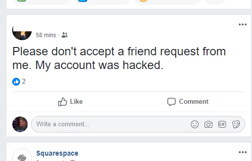About that Facebook impostor hack/hoax: Don't warn people unless you