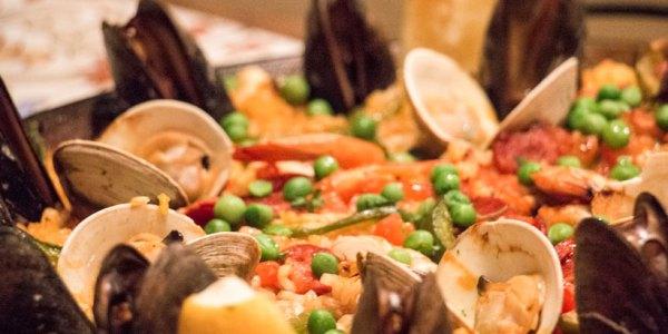 Seafood, Chicken & Chorizo Paella