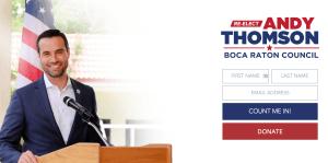 Andy Thomson Boca Raton 2020 Campaign Website