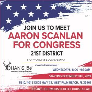 Aaron Scanlan Meet n Greet Flyer