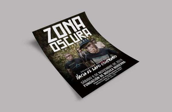 Cartel y merchandising para Zona Oscura