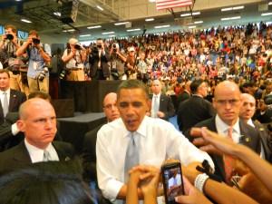 President Obama at FAU on April 10, 2012