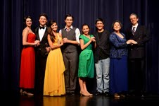 The cast of Anything Goes at Boca Raton Community High School.