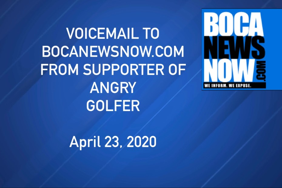 Angry golfers Boca Raton coved-19