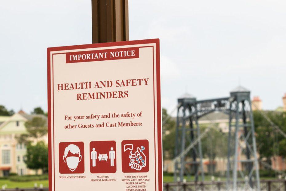 disney world health sign