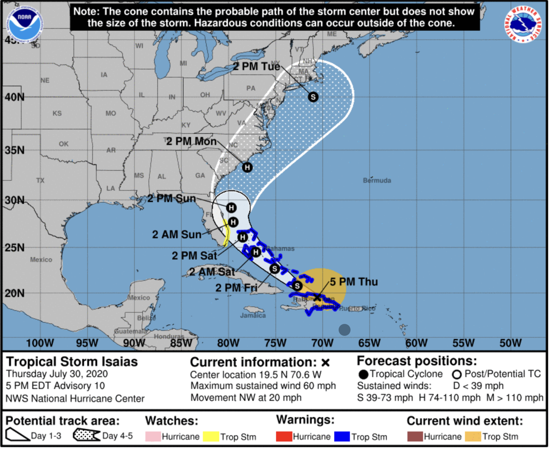 Tropical Storm Watch In Effect For Palm Beach County Bocanewsnow Com