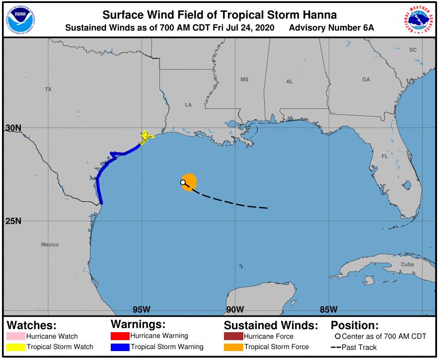 tropical storm Hannah