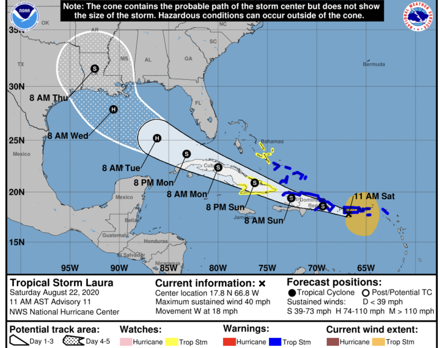 Tropical Storm Laura Major Shift South Florida Looks Largely Clear Bocanewsnow Com