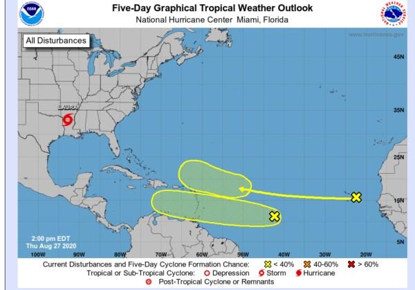 hurricane center gulf August 27, 2020