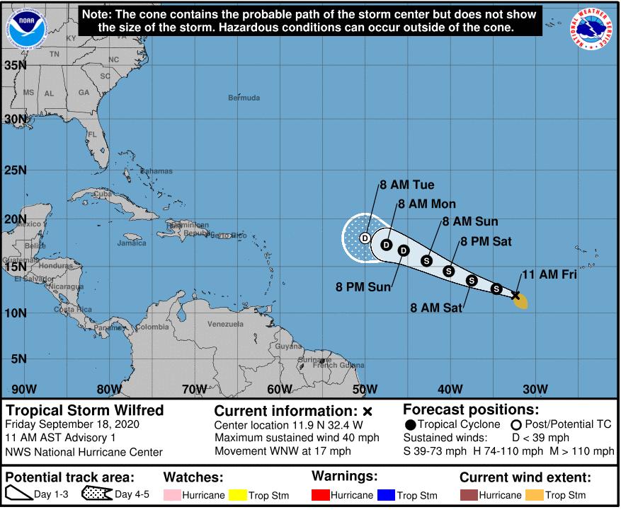 Hurricane Wilfred