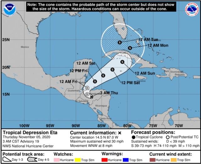national hurricane center eta