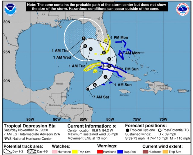 tropical depression eta