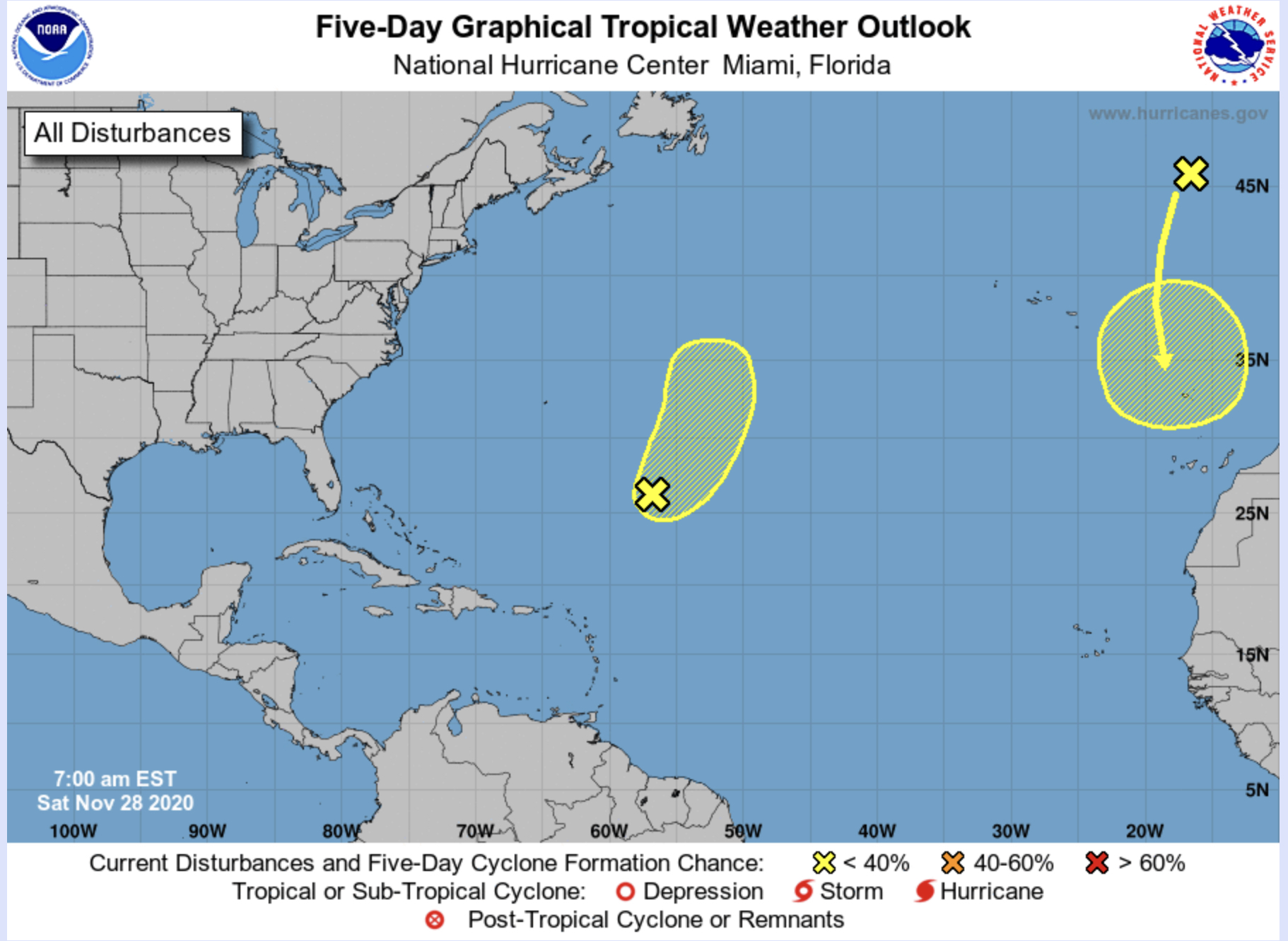 HURRICANE CENTER: Two Systems Appear To Be Moving Away From U.S. Mainland