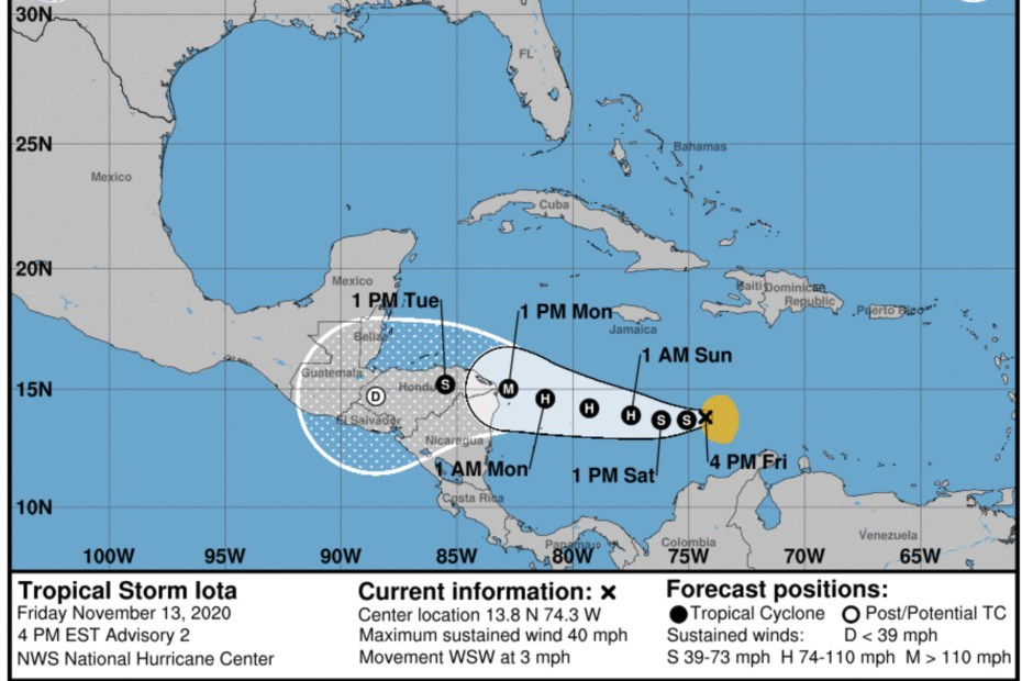 tropical storm iota