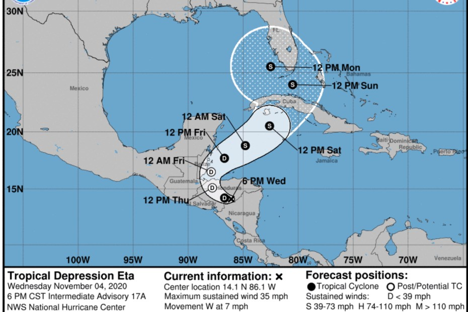 eta national hurricane center wednesday november 4, 2020 8p