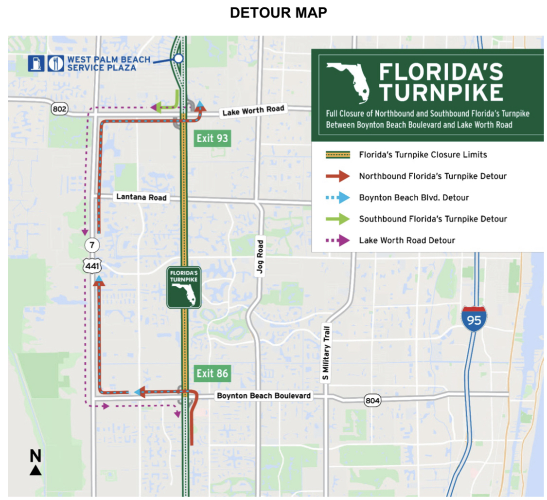 Florida's turnpike closure