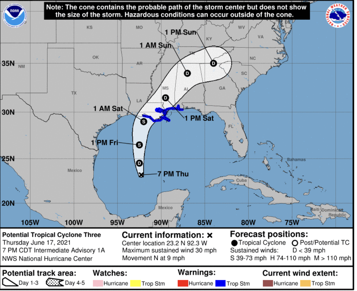 Potential tropical cyclone 3