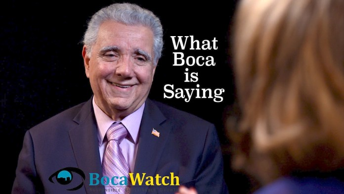 Mayoral Candidate Al Zucaro's Interview on What Boca is Saying series