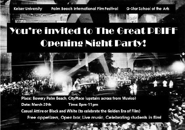 Celebrating Students: March 29th Opening Night Film & Party – All are Invited!
