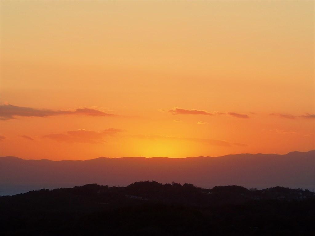 夕焼け 鎌倉から湘南海岸