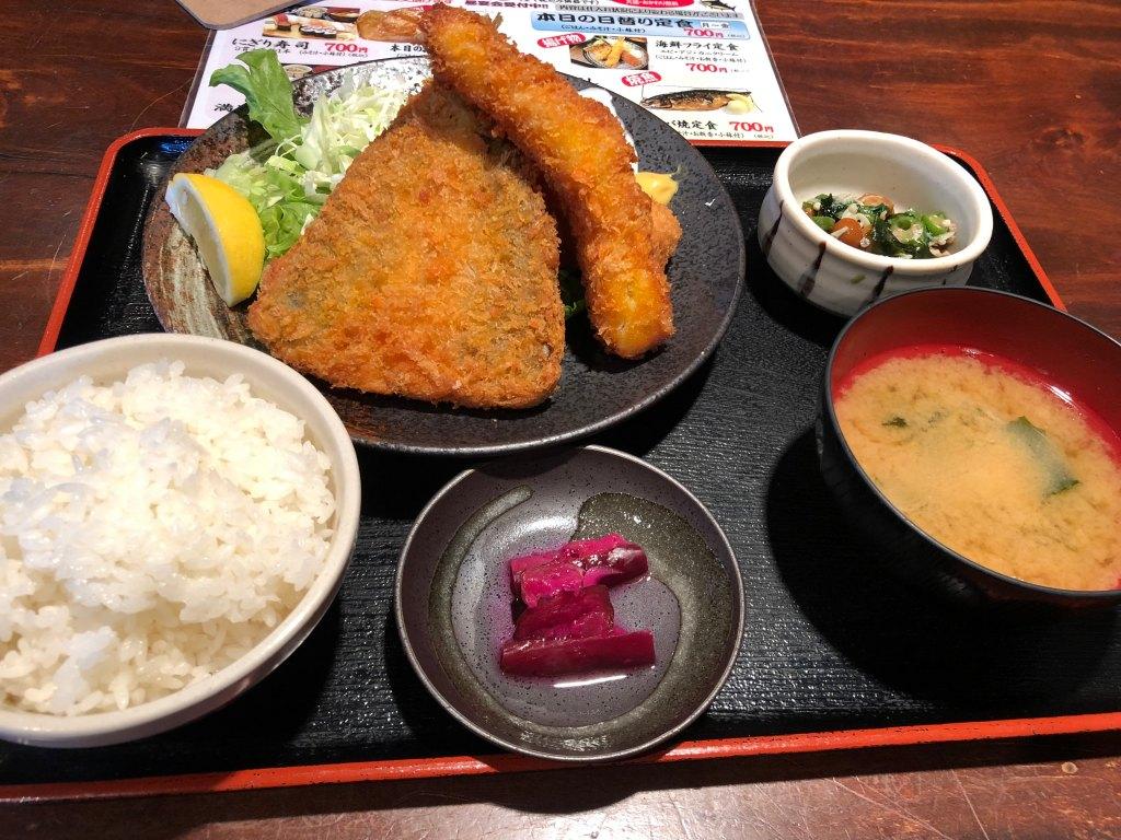 大船寿司居酒屋海福本店海鮮フライ定食