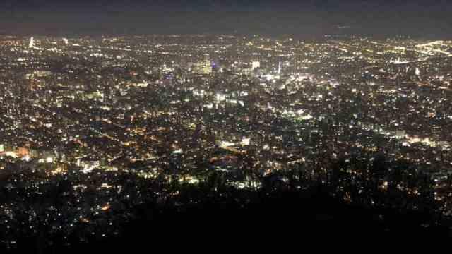 札幌藻岩山の夜景