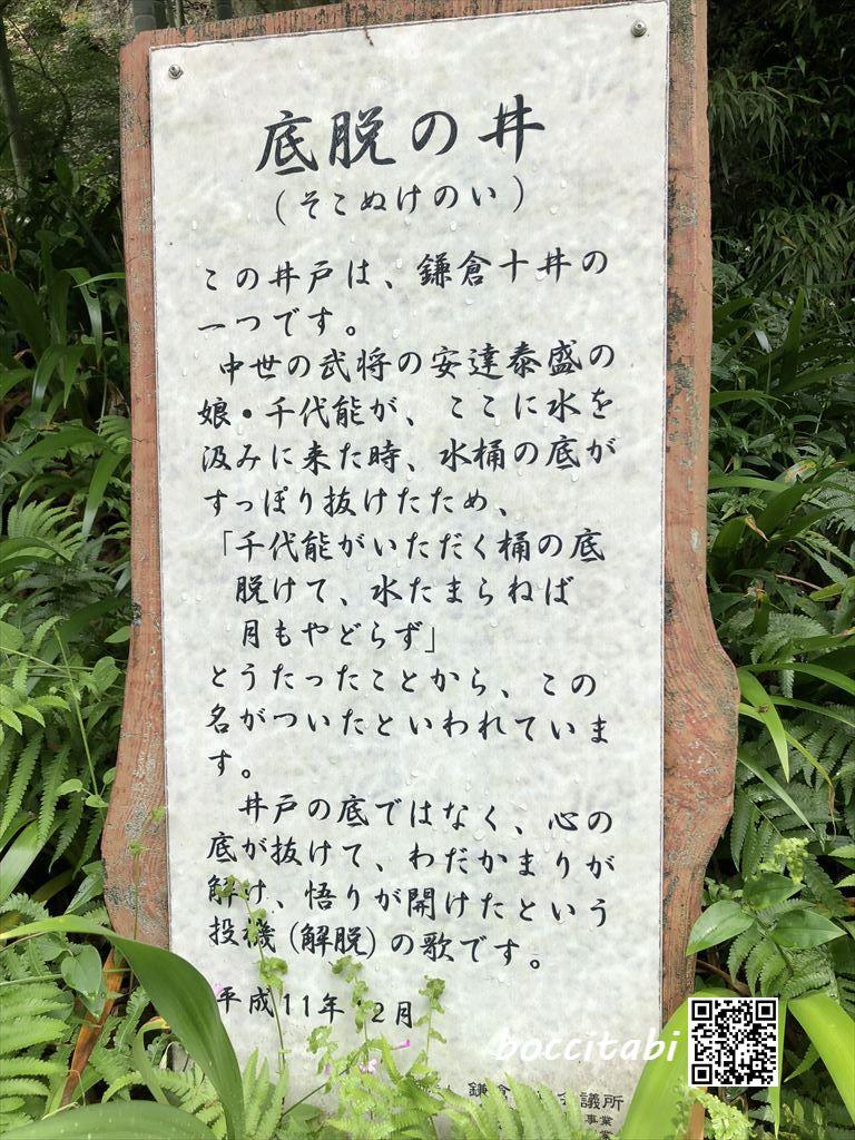 鎌倉扇ガ谷海蔵寺底脱の井