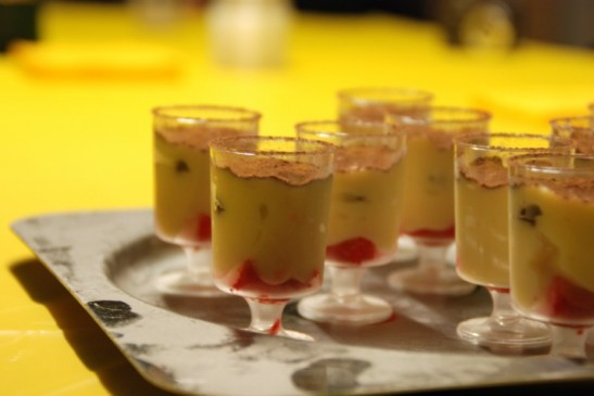 Zuppa inglese in bicchierino