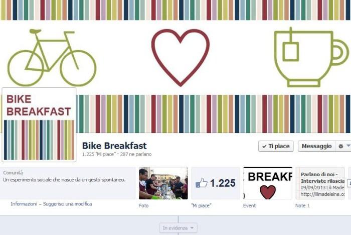 Bike breakfast facebook page