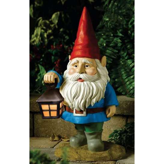 solar powered garden gnome