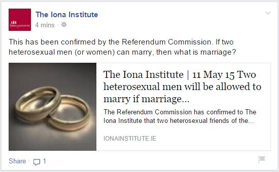Hetero marriage Iona