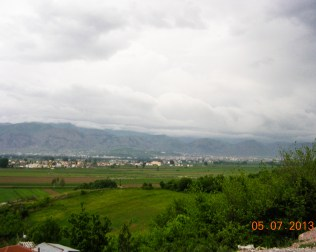 a vie of Korce from near the church.