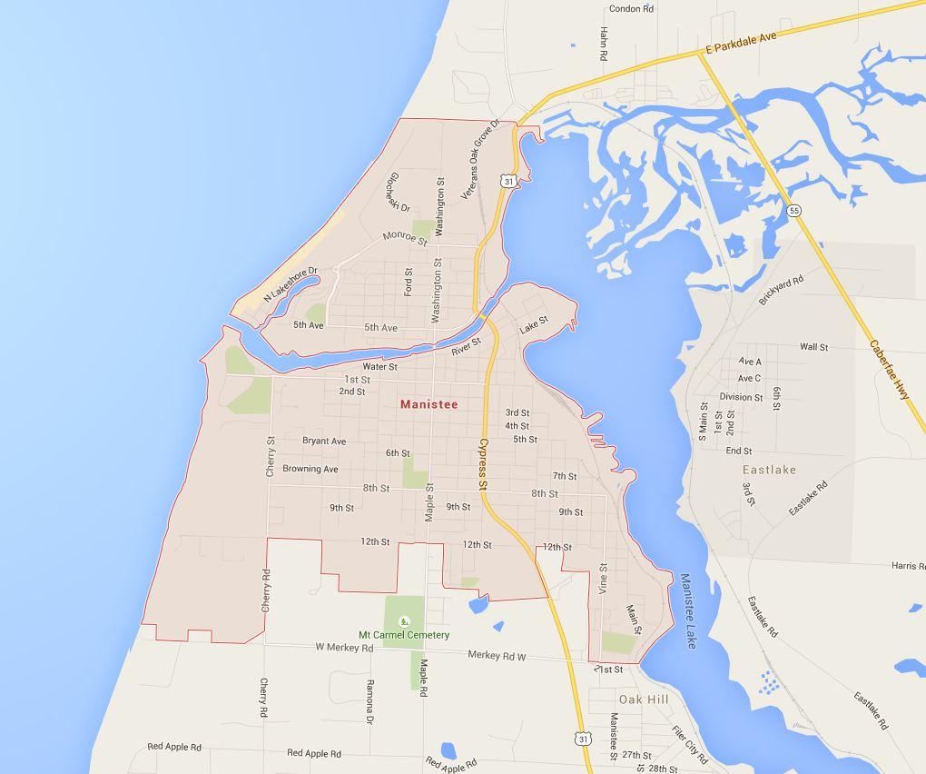 Map of Manistee, MI