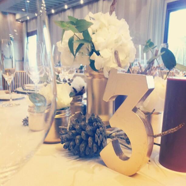 decoración de mesa boda de invierno
