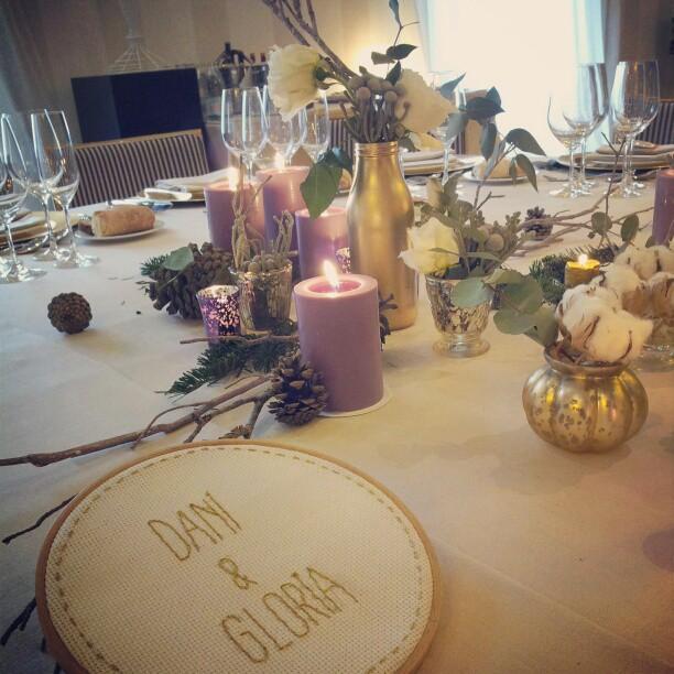 boda de invierno mesa presidencial