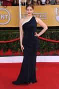 Anna Chlumsky accessorised her Sophie Theallet dress with Jimmy Choo heels and a Rauwolf bag