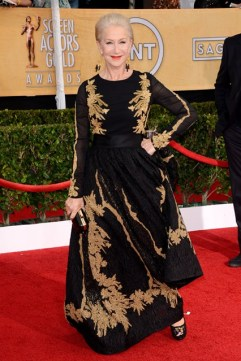 Helen Mirren wore an Escada gown with a Jimmy Choo clutch and Neil Lane jewellery