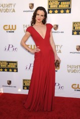 Juliette Lewis wore a Zac Posen gown and carried a Brian Atwood clutch