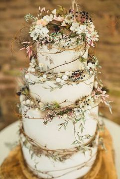 45 Classy And Elegant Wedding Cakes  Graceful Inspiration Tier by Tier Gorgeous and elegant rustic wedding cake by Amy Swann Cakes  Wedding Cakes  and Celebration Cakes