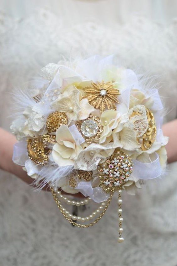 Bridal Bouquets Without Flowers For Non Traditional Brides