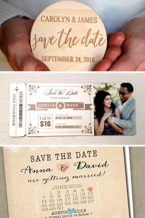 How Make Your Own Save Date Cards