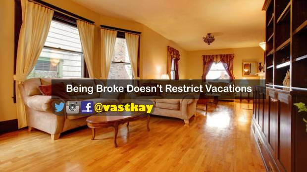 going vacation while being broke
