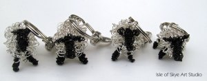 Keyrings: Wirework Sheep