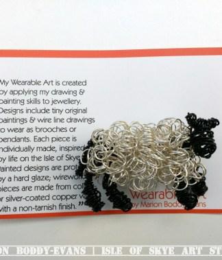 Wirework Sheep Brooch by Marion Boddy-Evans, Isle of Skye Art Studio