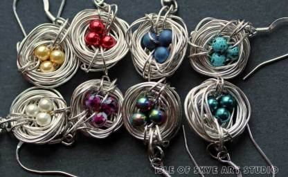 Nest Earring Colours Jewellery by Marion Boddy-Evans