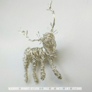 Wirework Stag Brooch by Marion Boddy-Evans, Isle of Skye Art Studio