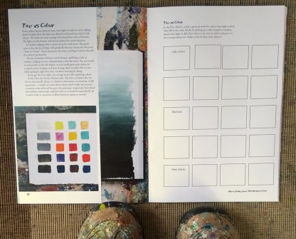 Sample pages from Colour Art Workbook